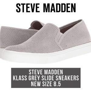 Steve Madden Grey Slide Klass Sneakers New 8.5